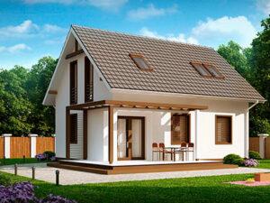 Дом из SIP-панелей #1006