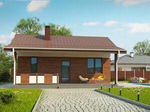 Дом из SIP-панелей #1003