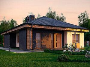 Дом из SIP-панелей #1012