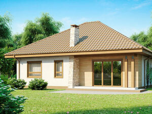 Дом из SIP-панелей #1007