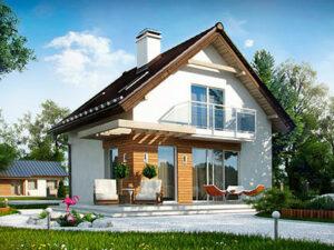 Проект Дачного дома из SIP-панелей #3001