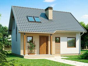 Проект Дачного дома из SIP-панелей #3002