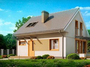 Проект Дачного дома из SIP-панелей #3003