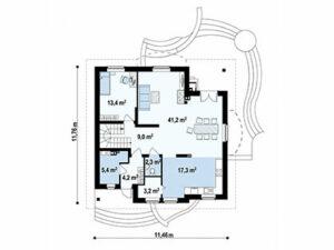 Дом из SIP-панелей #1014-2