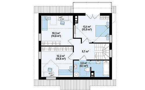 Дом из SIP-панелей #1015-проект 2