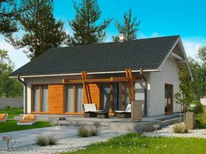 Проект Дачного дома из SIP-панелей #3004