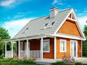 Проект Дачного дома из SIP-панелей #3005