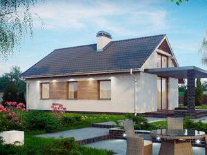 Проект Дачного дома из SIP-панелей #3008