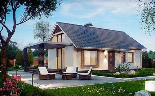 Проект Дачного дома из SIP-панелей #3007