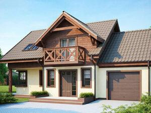 Дом из SIP-панелей #4056